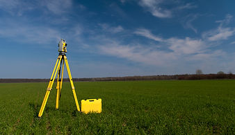 Surveyor equipment theodolite on tripod