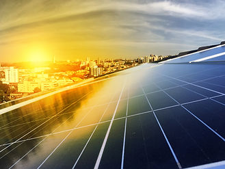Photovoltaic power plant on the roof of