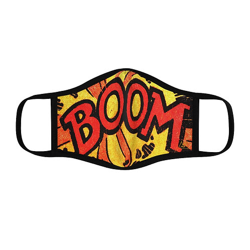 BOOM!-Fitted Polyester Face Mask