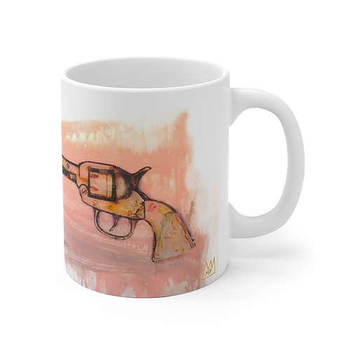 Bubble Gun!-White Ceramic Mug