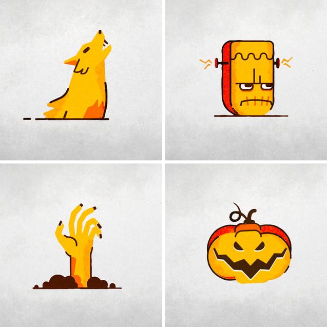 halloween CBS   |   social animation