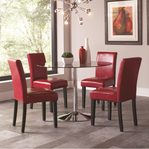 Bella And Clemente 5Pc Contemporary Rounded Dining Set