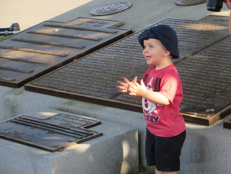 A Young Concert Goer in Leonardtown Square
