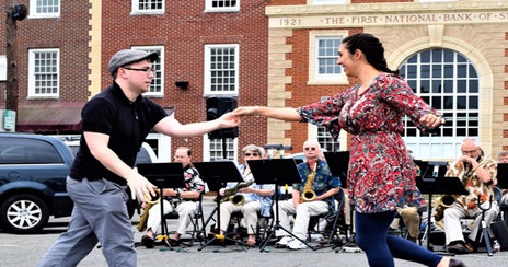 Dancers at Swing into Spring in the Square