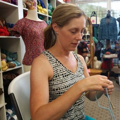 Knitting at Crazy for Ewe