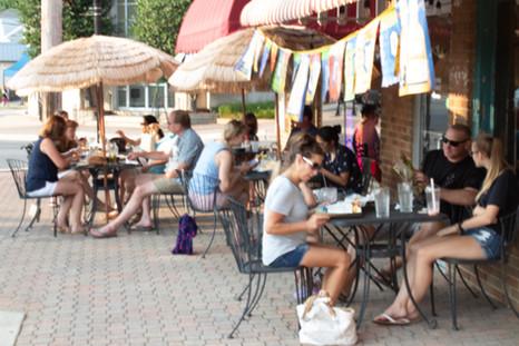 Diners in Leonardtown Square