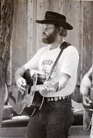 Jerry K. Green At Luckenbach TX in 1977
