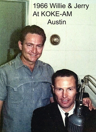 1966 - Jerry K. Green and Willie Nelson at KOKE