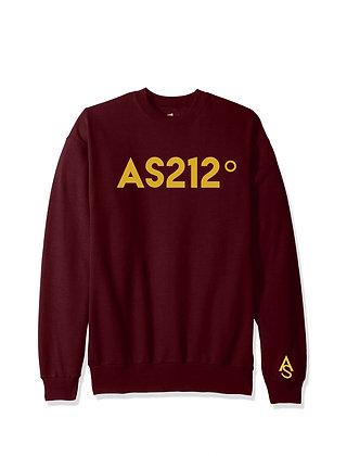 Maroon AS212° Unisex crew neck sweater
