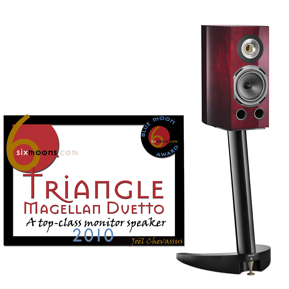 Triangle Magellan Duetto loudspeakers with Blue Moon Award