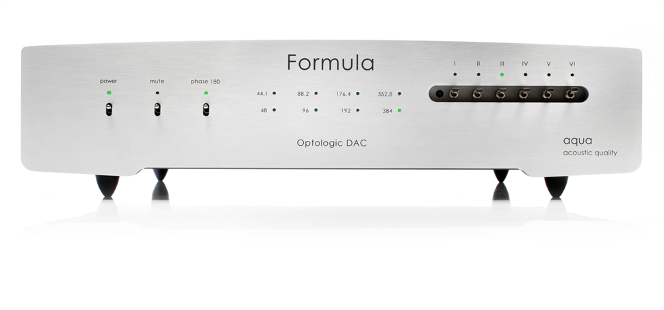Front view of Aqua-Acoustic Optologic Formula DAC