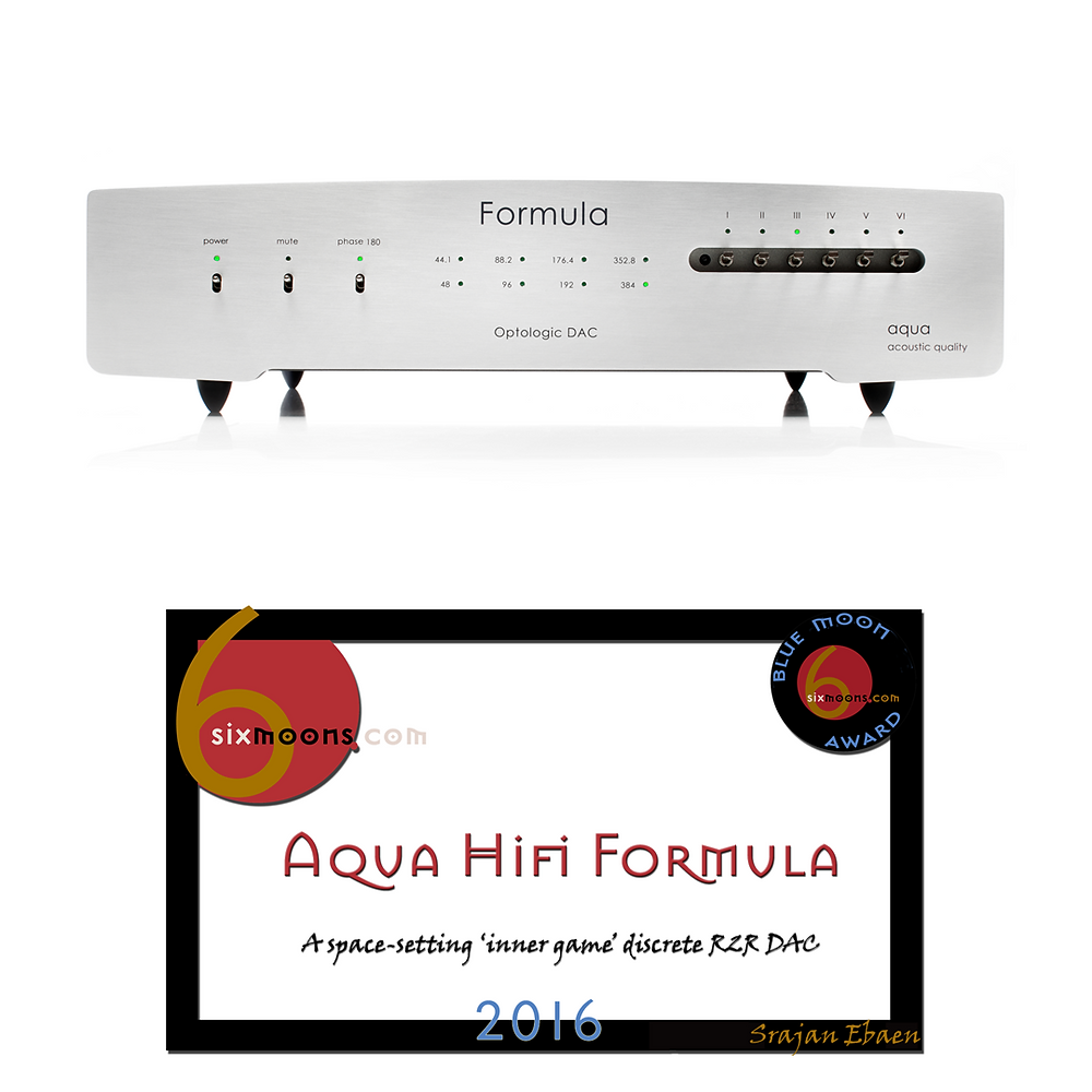 Aqua Acoustic Formula Optologic DAC with Blue Moon Award