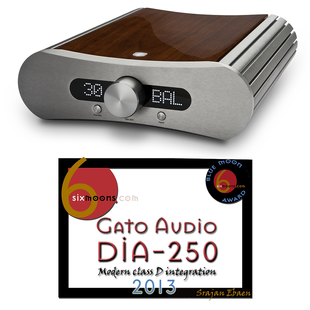 Gato Audio DIA-250 Integrated Amplifier with Blue Moon award