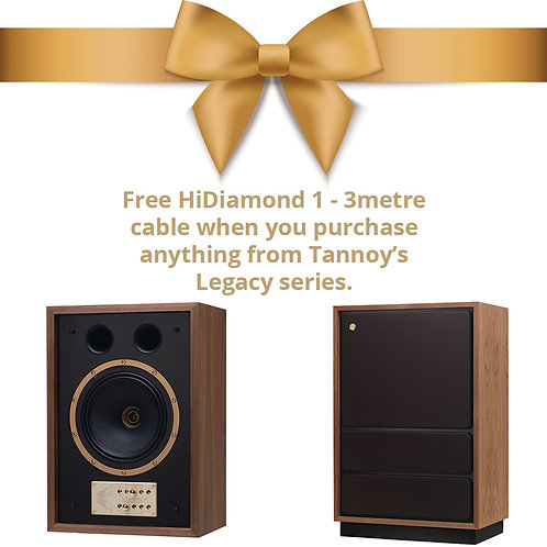 Tannoy Legacy Series - Free 3 Metre HiDiamond 1 Cable