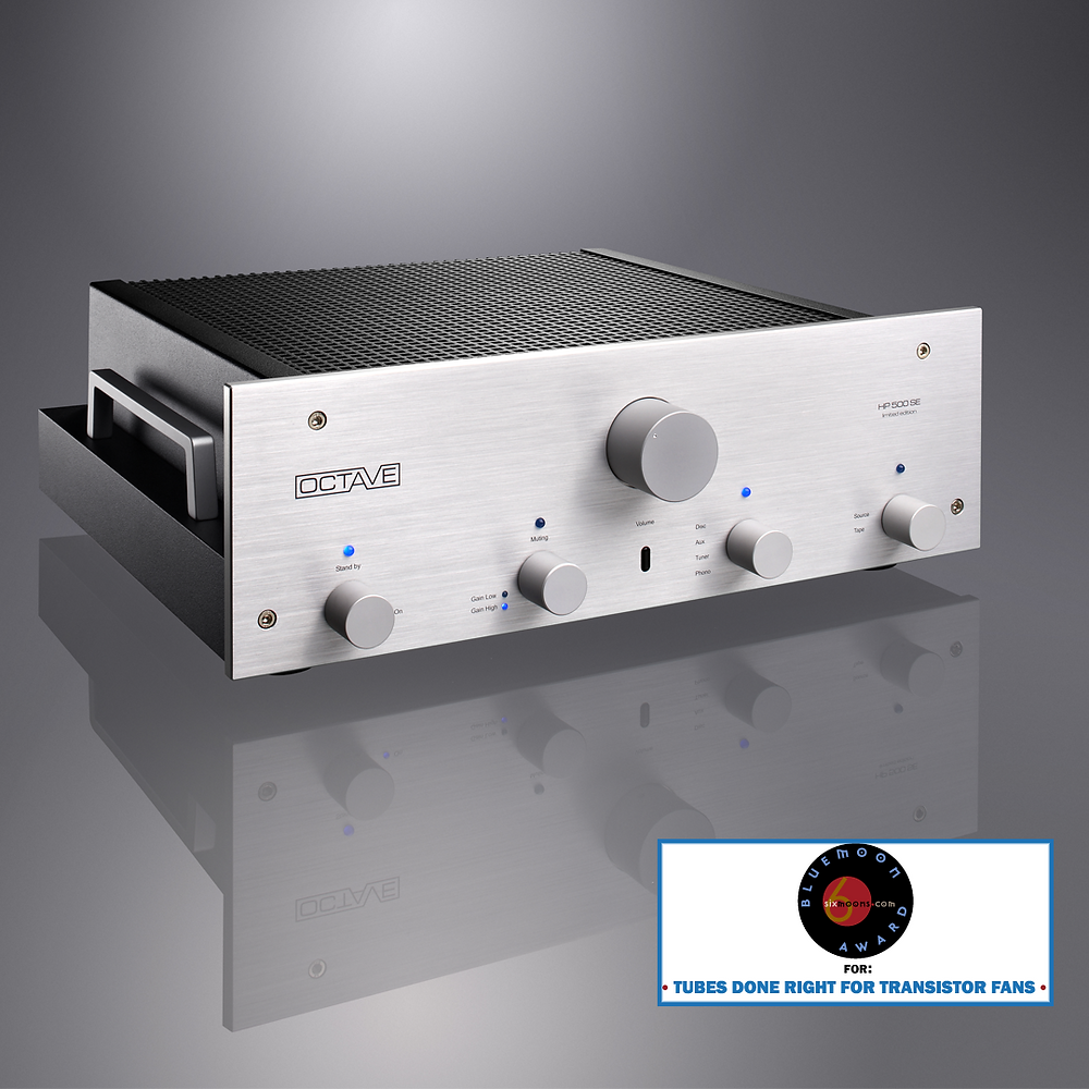 Octave HP 500SE Pre-amplifier with Blue Moon Award