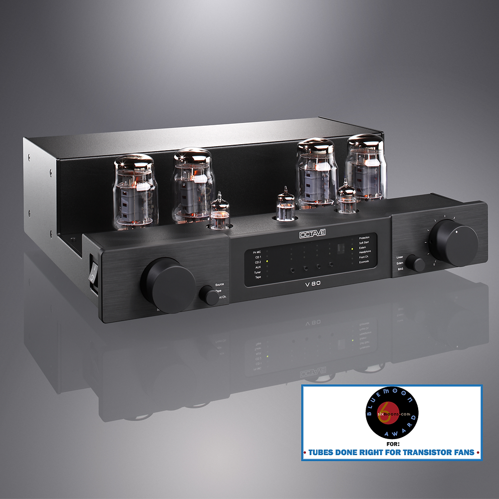 Octave V80 Integrated Amplifier with Blue Moon Award