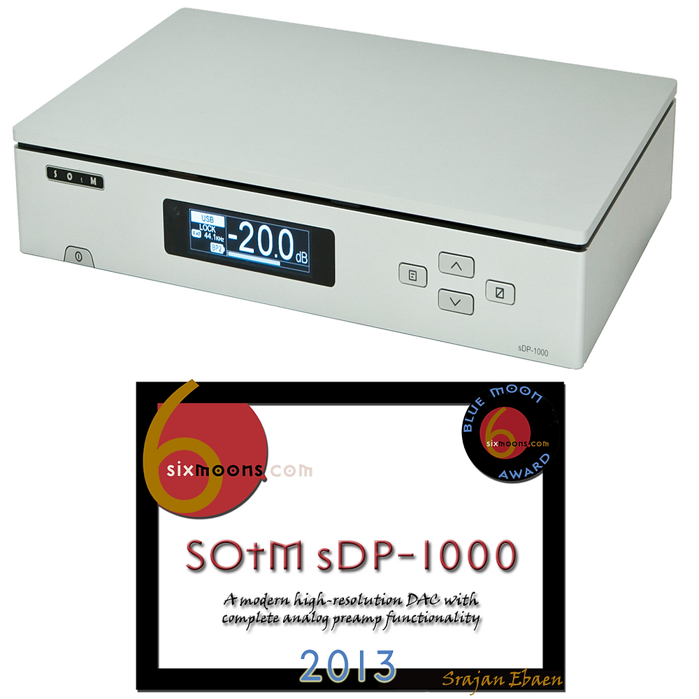 SOtM sDP-1000 DAC & Pre-amp with Blue Moon Award