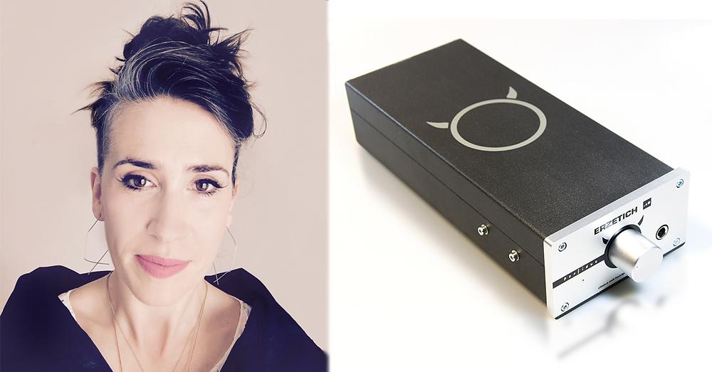 Imogen Heap with Erzetich Perfidus headphone amplifier
