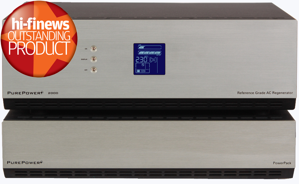 PurePower+ 2000 with Hi-Fi News Outstanding Product logo