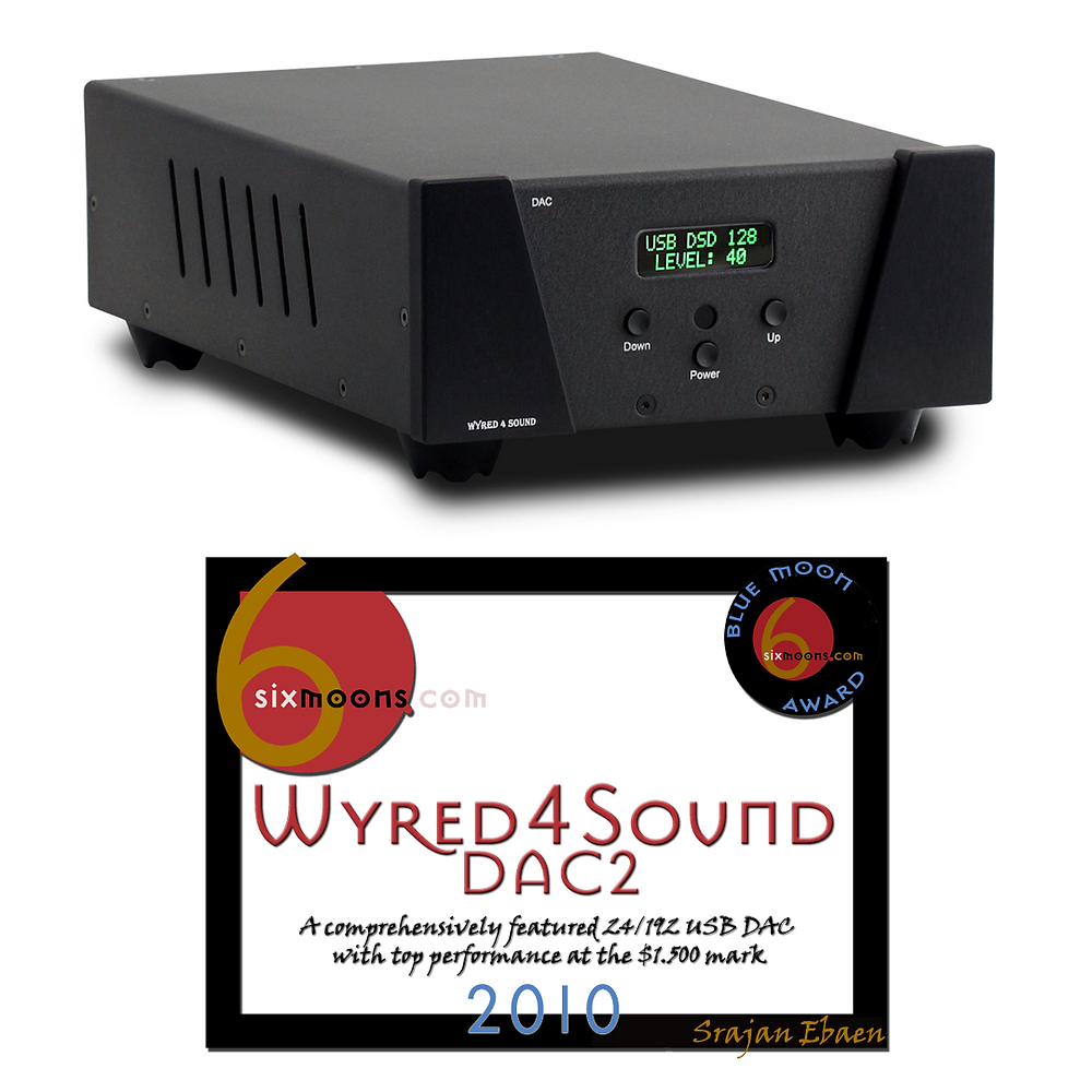 Wyred 4 Sound DAC 2 with Blue Moon Award