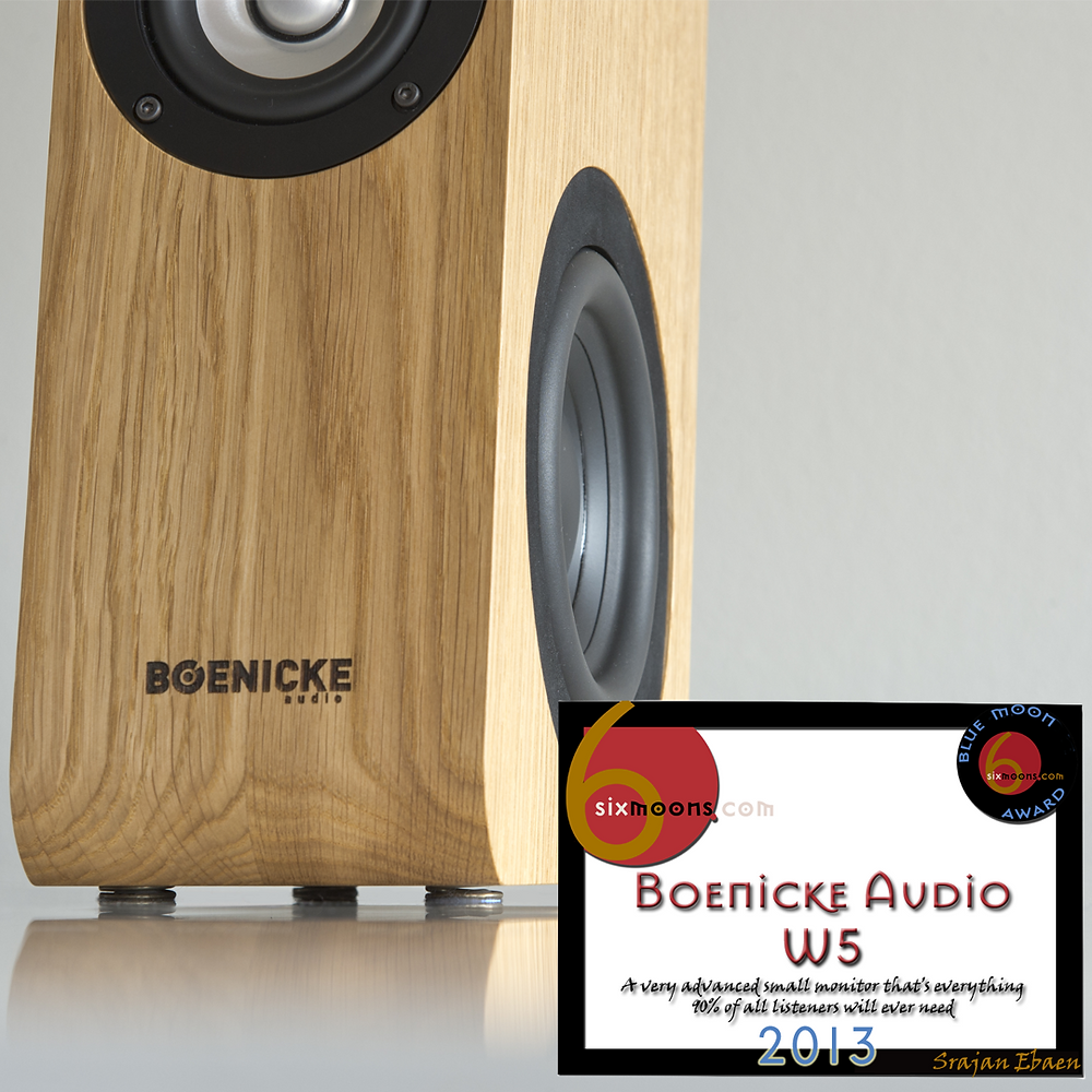 Boenicke 5 loudspeaker with Blue Moon Award