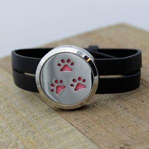 Three Paw Prints Diffuser Bracelet