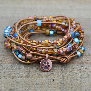 Shoreline Leather Wrap Bracelet