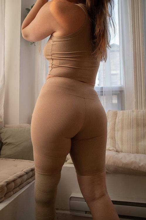 Light Brown Biker Shorts