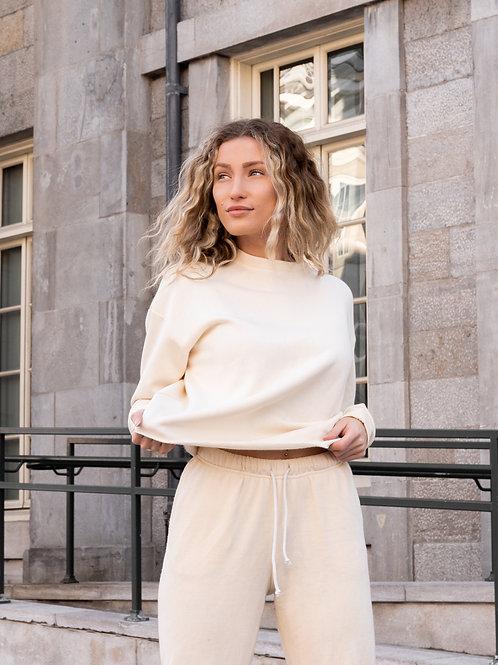 Cream Fleece Sweater