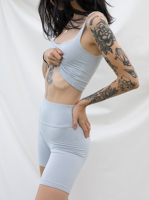 Silver Doubled Tank Top