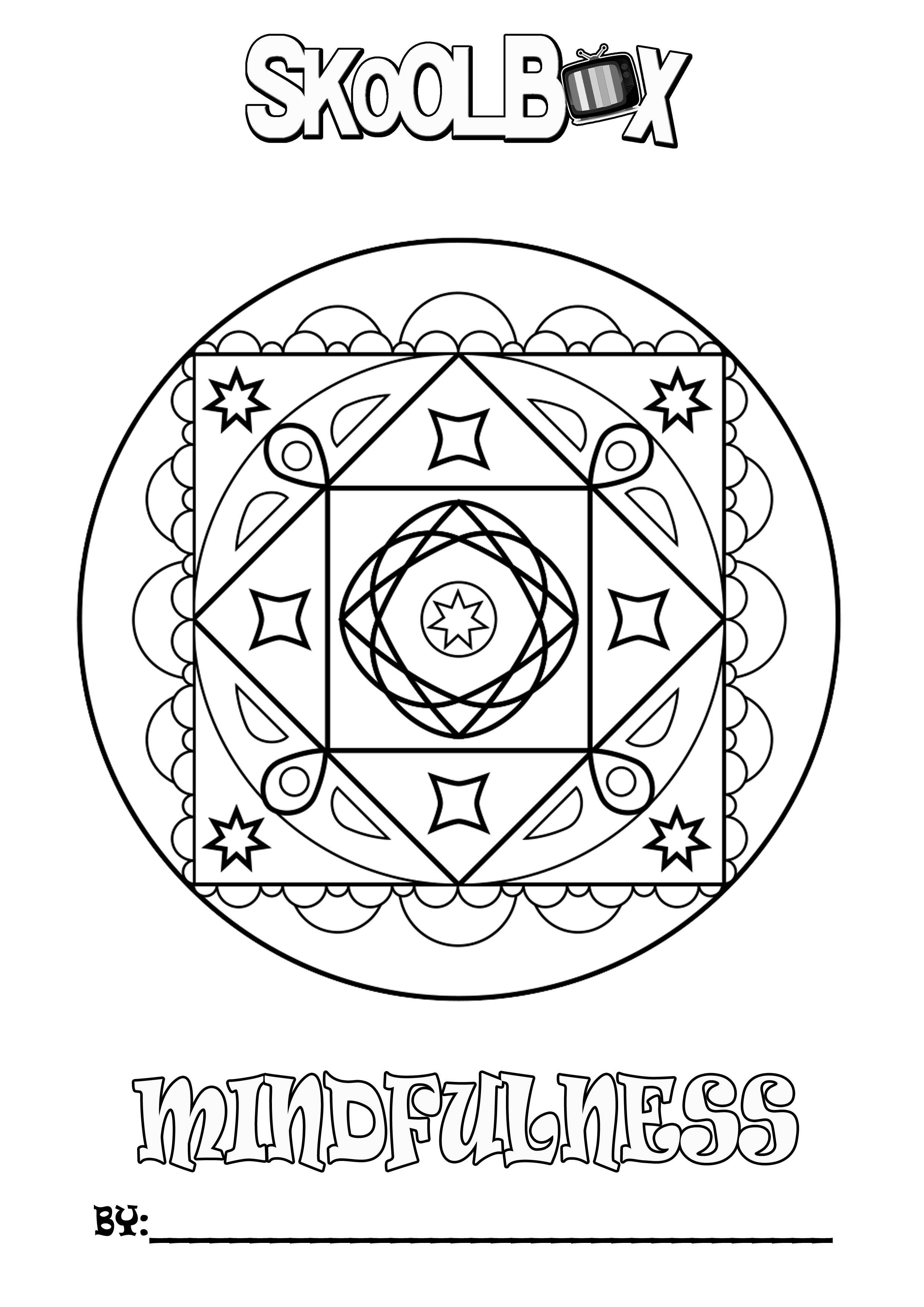 SkoolBox Mindfulness Colouring 21