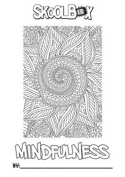 SkoolBox Mindfulness Colouring Sheet Pea