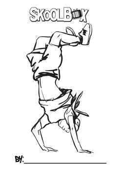 SkoolBox Dance Colouring Sheet 4