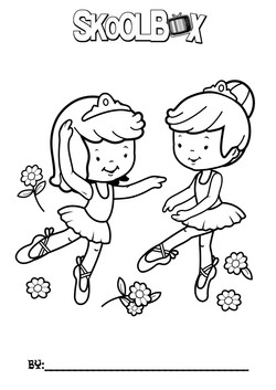 SkoolBox Dance Colouring Sheet 14