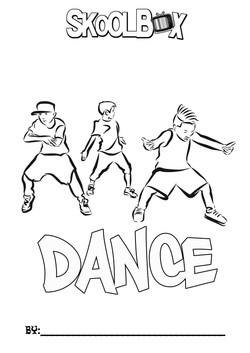 SkoolBox Dance Colouring Sheet 16