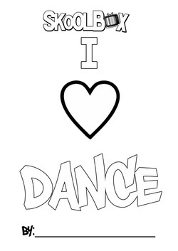 SkoolBox Dance Colouring Sheet 12