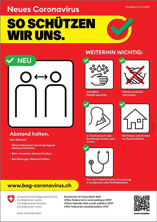 Coronavirus Plakat BUND BAG DORMEN Immob