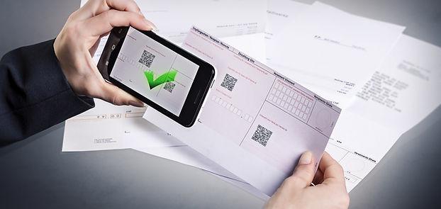 Einzahlungsscheine online bestellen, Ein