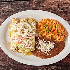 Enchiladas de Camaron Green Sauce