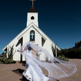 Bride going in to Church Phoenix