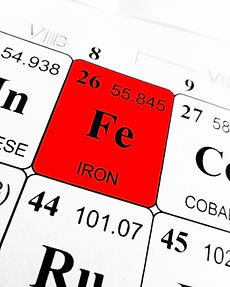 Iron on the periodic table of the elemen
