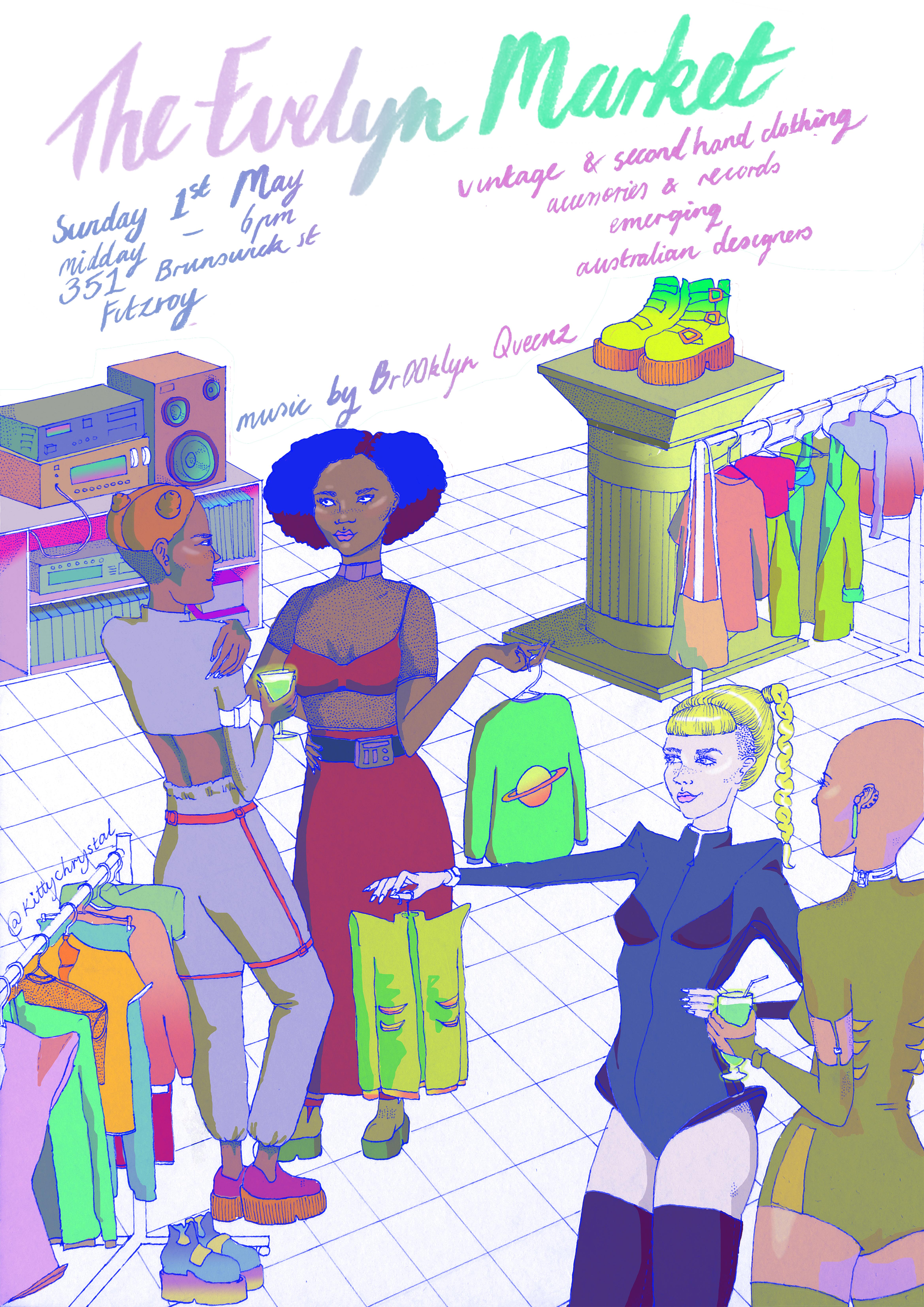Evelyn Market Poster