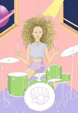 Spacey drummer babe <3