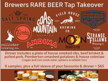 Brewers RARE BEER Tap Takeover