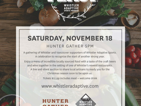 Hunter Gather a Feast for Whistler Adaptive