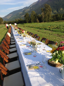 A long table with a view