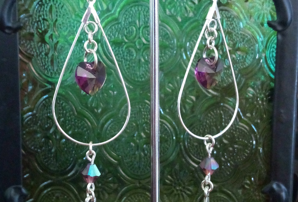 'Swarovski Celtic Drop' Earrings
