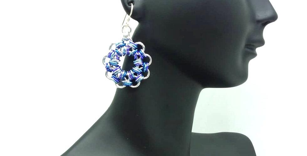 'Purple Dahlia'  Earrings