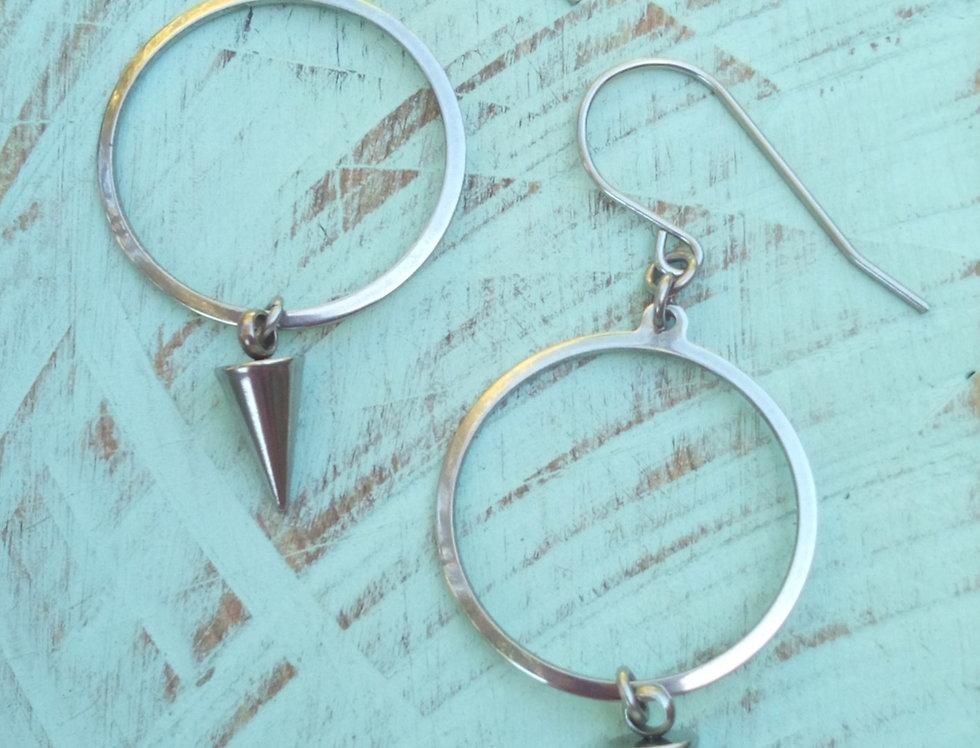 'Hoop Spikes'  Earrings