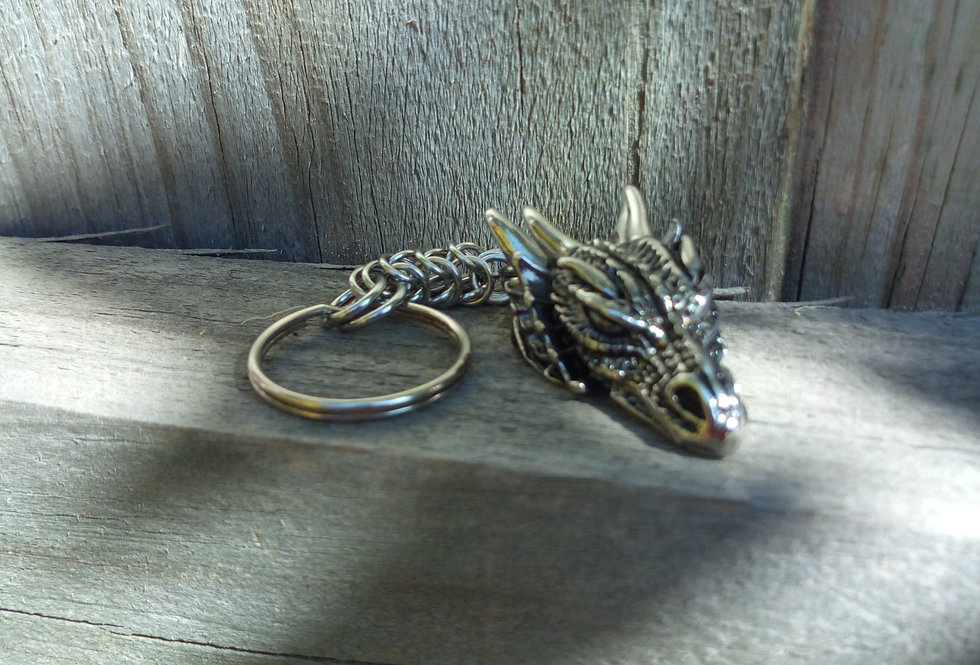 'Dragon Head' Key Ring